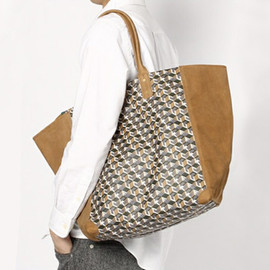 UNDERCOVER - Fuck Pattern Leather Tote Bag