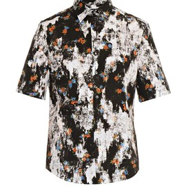 McQ, Alexander McQueen - Patched floral short-sleeved shirt