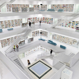 Stuttgart City Library - Germany -  Library