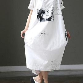 loose summer sundress - white loose summer sundress Summer Casual Lantern Short Sleeve Dresses