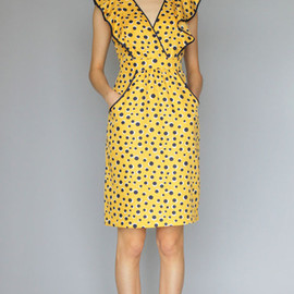 KAREN WALKER - Yellow Spot Susie Frill Dress