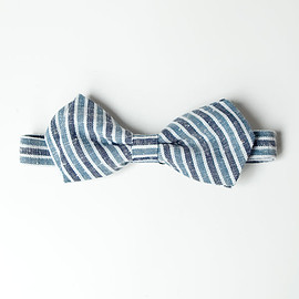 tsutau - tsutau / MIkawa cotton bow tie : blue