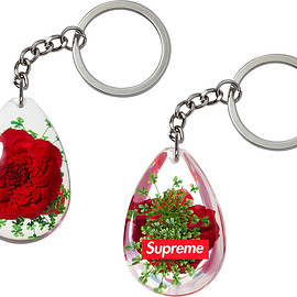 Supreme - Tear Drop Rose Keychain