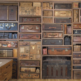 Gail Rieke -  Suitcase Wall