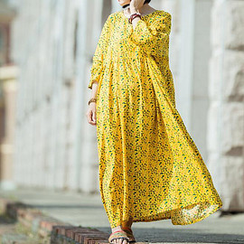 dress - Womens Oversized long dress Large size Summer travel dress maternity dress