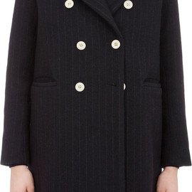 sacai luck - Two-In-One Pinstripe Coat