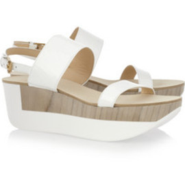 Jil Sander - Patent-leather platform sandals
