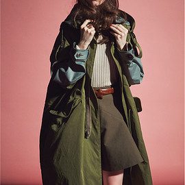 beautiful people - pe.twill patchwork big mods coat