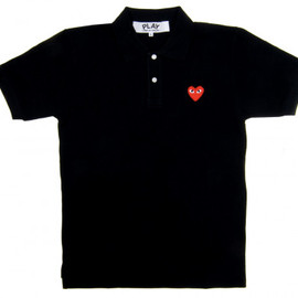 PLAY COMME des GARCONS - Red Play Polo Shirt (Black)