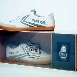 Feiyue x Casio - 'Silver & Gold' Box Set of Sneakers & Watches-01