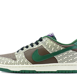 NIKE - DUNK LOW  soft grey/ deep forest-dk mocha  309350 031