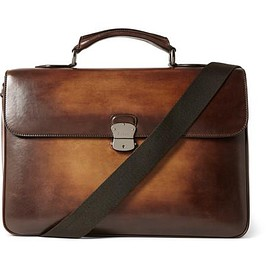 Berluti - Il Nostro Polished-Leather Briefcase