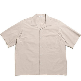 AURALEE - Selvedge Weather Cloth Half Sleeved Shirts-G.Beige