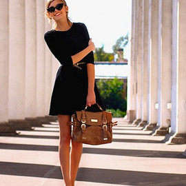 Crew Neck Black Dress  - Crew Neck Black Dress