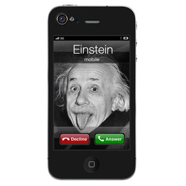 Amazing Calling - Skin for iPhone4 - Amazing Calling from Einstein