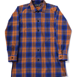 bal - ORIGINAL PLAID LONG SHIRT COAT