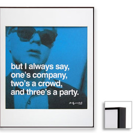 Andy Warhol - Famous Quotes,Matted Prints,I always say (Dark Brown Frame)