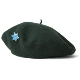 PEEL&LIFT - Basque Beret with David's Star (dark green)