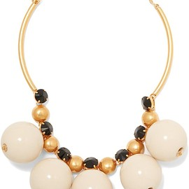 Marni - Gold-plated resin necklace