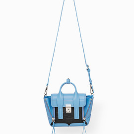 3.1 Phillip Lim - PASHLI MINI SATCHEL / FRENCH-BLUE-BLACK