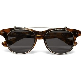 "Illesteva - ""Lenox"" - Detachable Front Square-Frame Sunglasses"