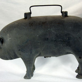 Vintage Salesman Sample Moorman Anatomical Pig c1940