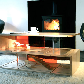 magnetic wood furniture - QUBIS HAUS: Dual Purpose Coffee Table and Dollhouse