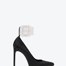 SAINT LAURENT PARIS - PARIS ESCARPIN PUMP WITH ANKLE CUFF STRAP