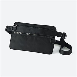 UNIQLO U - MEN U SHOULDER BAG, BLACK, large