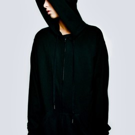 Long Clothing - Zip Up Plain Hood