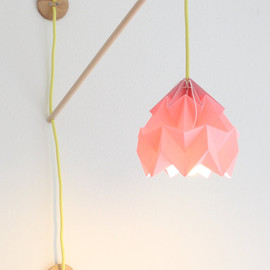 nellianna - Wall fixture Klimoppe with paper lamp Moth