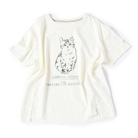 Cat's Nap Time (キャッツ ナップタイム) produced by Cat's ISSUE, Afternoon Tea - DS25 サバ美プリントTシャツ