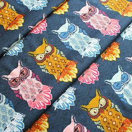 Art Gallery Fabrics - Nightfall Bird of Night Slate