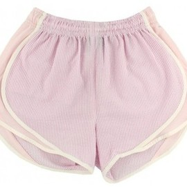 Lauren James - Shorties Shorts in Pink Seersucker by Lauren James
