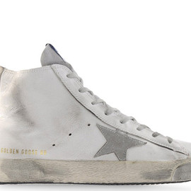 GOLDEN GOOSE - Golden Goose White On White High Tops nebs