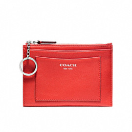 Coach - legacy leather medium skinny / carnelian