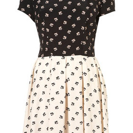 TOPSHOP - Mix and Match Print Flippy Dress