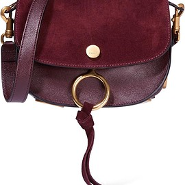 Chloé - Kurtis small textured-leather and suede shoulder bag