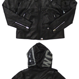 A BATHING APE - SHARK RIDER'S JACKET