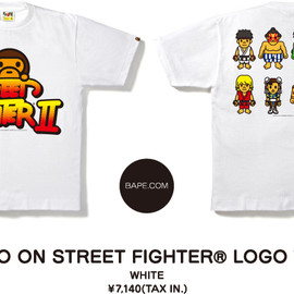 A BATHING APE - MILO ON STREET FIGHTER® LOGO TEE