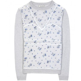 Nina Ricci - FLOCKED WOOL AND CASHMERE-BLEND PULLOVER