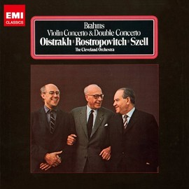 Oistrakh, Rostropovitch, Szell and Cleveland Orchestra - ブラームス:ヴァイオリン協奏曲 二重協奏曲