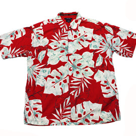 TOMMY HILFIGER - Vintage 90s Tommy Jeans Red Hawaiian Shirt Mens Size XXL