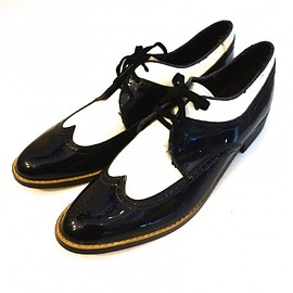 VINTAGE - エナメルレザーコンビシューズ【NIGHT MOVES】【DEADSTOCK】【1980's】VINTAGE SHOES