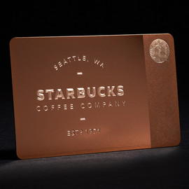 STARBUCKS - Starbucks Limited Edition Metal Gift Card for Gilt