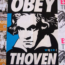 OBEY - Shepard Fairey - Obey Thoven: Classical radio station spoofs Shepard Fairey