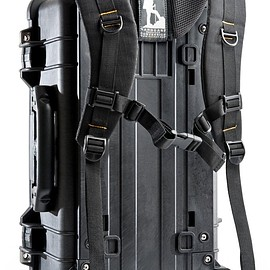 Pelican - Black 1510 with black padded dividers, Ruc Pac Backpack conversion