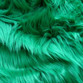 Luulla - Kelly Green Fake Fur - shamrock green faux fur 10 x 19 inches