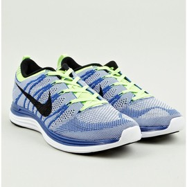Nike - Royal Blue Flyknit Lunar1+ Sneakers