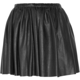 miu miu - washed nappa leather mini skirt